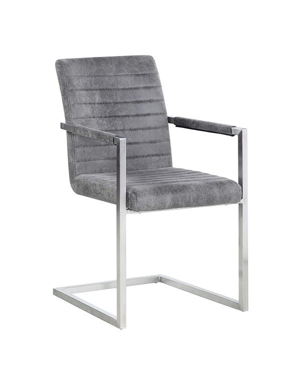 Chintaly Channel Back Cantilever Arm Chair