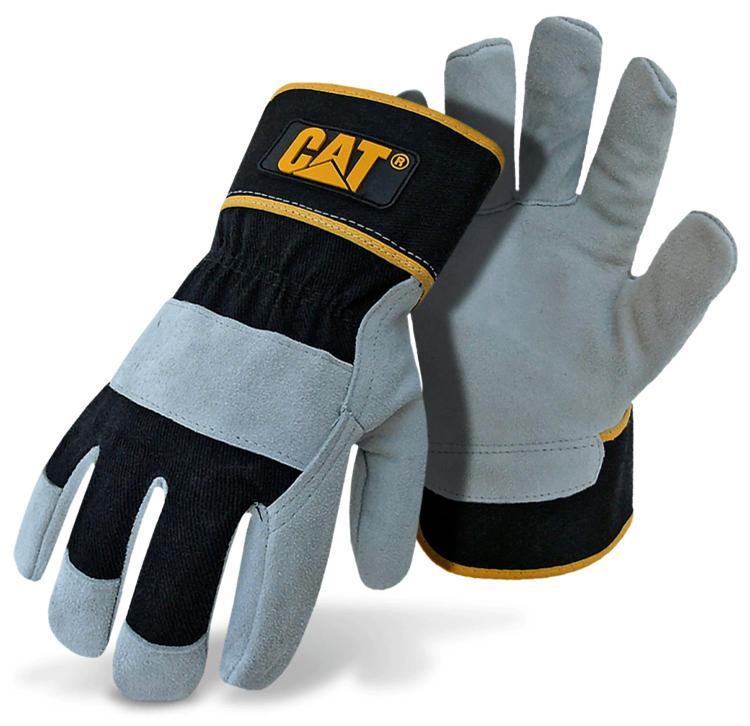 Cat013201L Glove Lthrplm Gy Lg