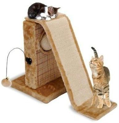 Penn-Plax - Cat Activity Center W/Sisal Slide & Bamboo Rubbing Post