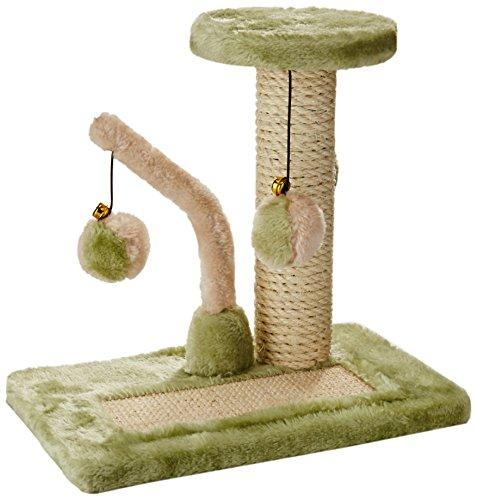 Penn-Plax - Two Piece - Sisal Cat Scratching Pad & Tower W/Swatting Toys
