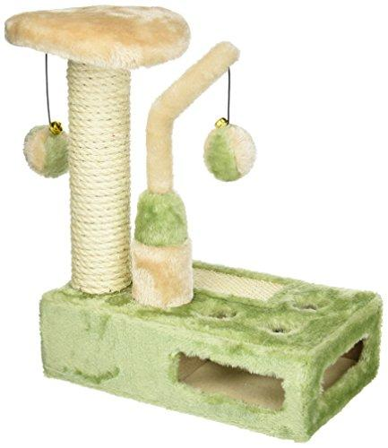 Penn-Plax - Two Piece - Deluxe Sisial Cat Scratching Pad & Tower W/Swatting Toys