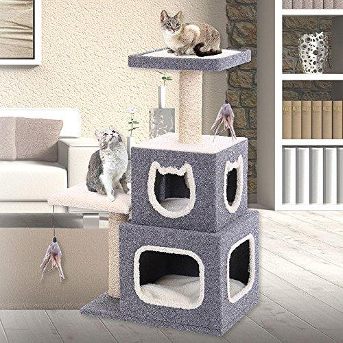 Penn-Plax - Dual Hideaway Activity Cat Lounge W/Scratching Posts