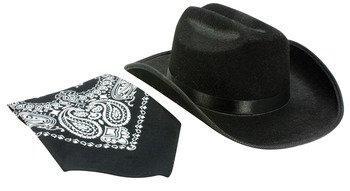 Jr. Cowboy Hat (Black) with Bandanna [Item # CBBK-HAT]