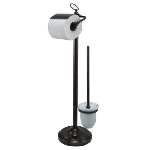 Kingston Brass Vintage Pedestal Toilet Paper and Brush Holder