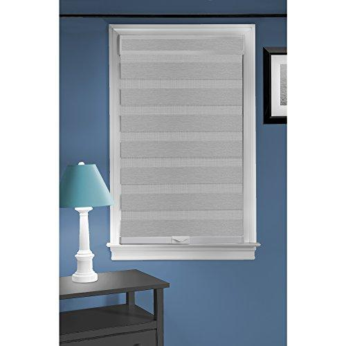 Cordless Celestial Sheer Double Layered Shade 27x72 - Grey