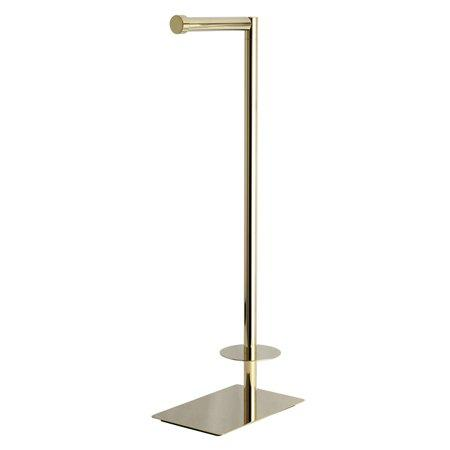 Kingston Brass CC8002 Claremont Freestanding Toilet Paper Stand, Polished Brass