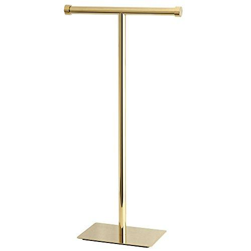 Kingston Brass CC8102 Claremont Freestanding Toilet Paper Stand, Polished Brass