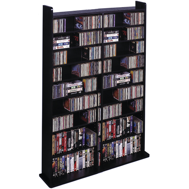 Leslie Dame Vinyl Veneer High Capacity Wall Rack (CD-1000 Series) [Item # CD-1000B]
