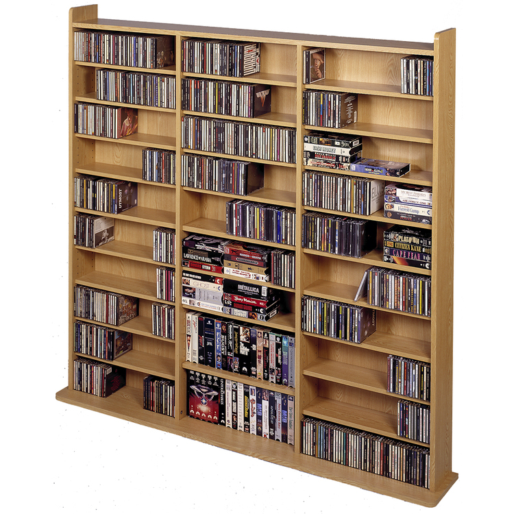 Leslie Dame Vinyl Veneer High Capacity Wall Rack (CD-1500 Series)