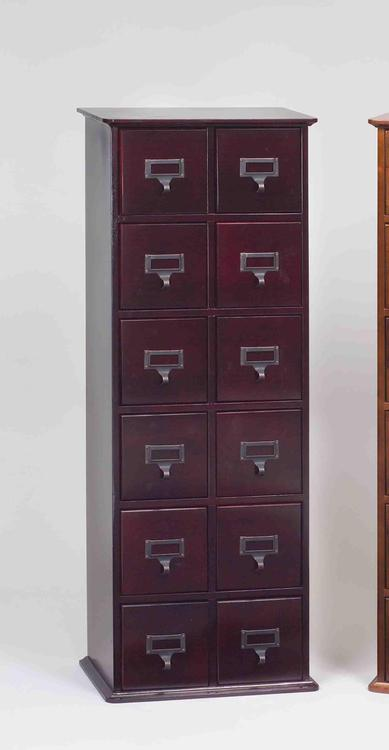 Library Card File Media Cabinet