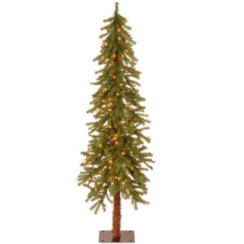 Hickory Cedar Tree with Clear Lights