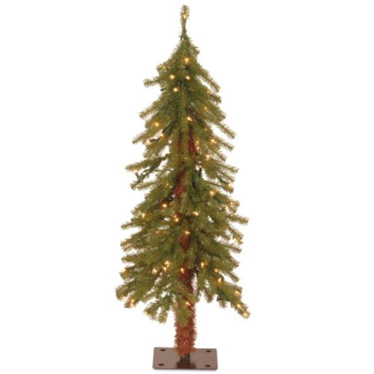 National Tree Hickory Cedar Tree with Clear Lights