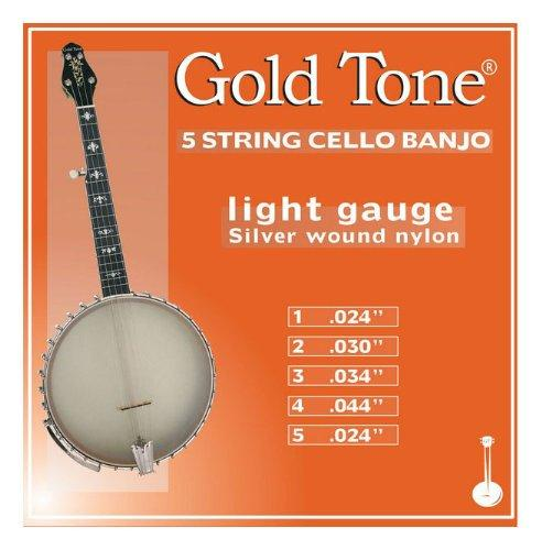 Light Gauge 5-String Cello Banjo Strings