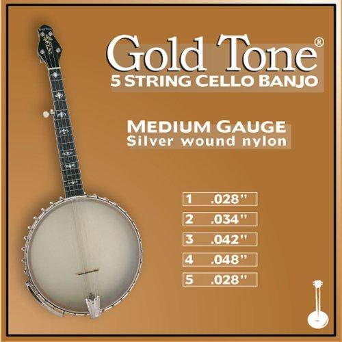 Medium Gauge 5-String Cello Banjo Strings