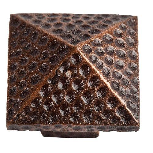 Solid Cast Copper Large Pyramid Knob in Antique Finish by The Copper Factory Model CF110AN