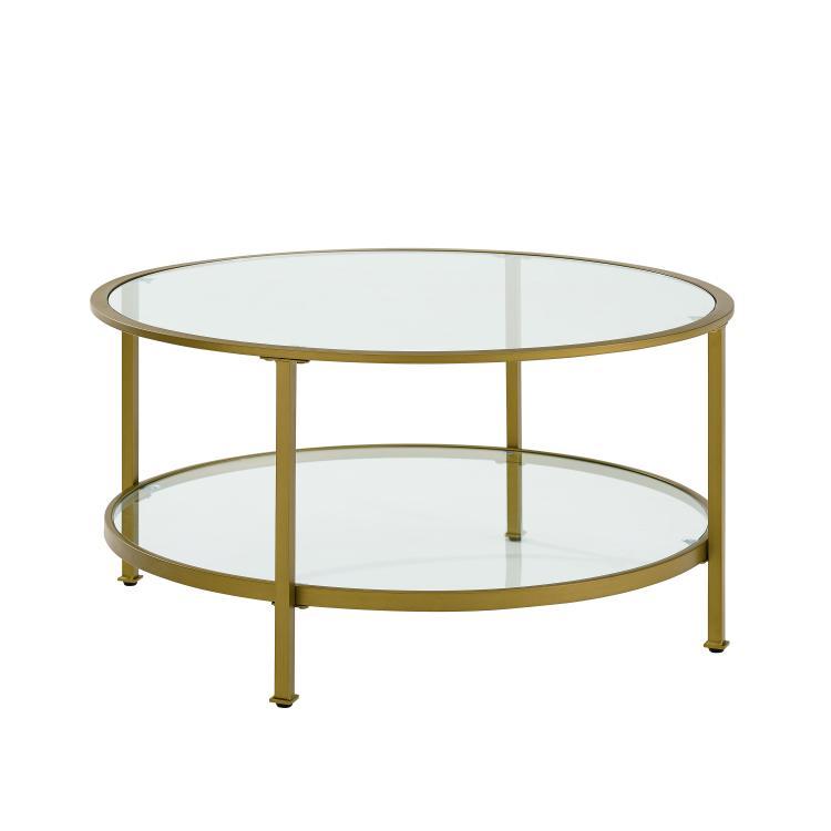 Crosley Aimee Glass Coffee Table
