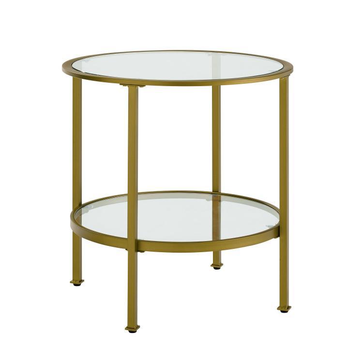Crosley Aimee Glass Side Table