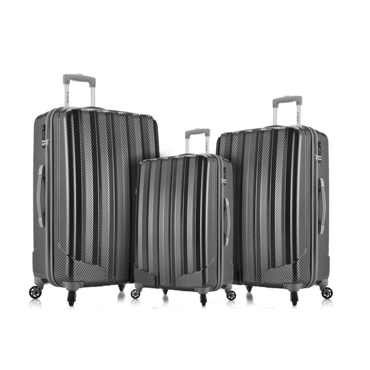 Barcelona Polycarbonate/Abs Luggage Set With Travel Set & Luggage Cover