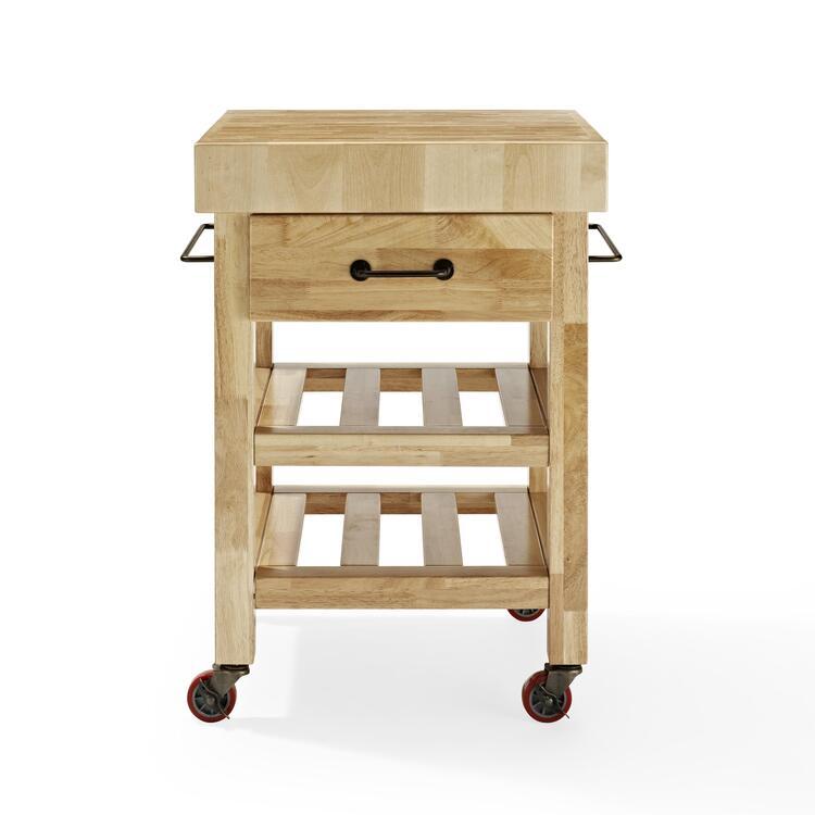Marston Butcher Block Kitchen Cart in Natural