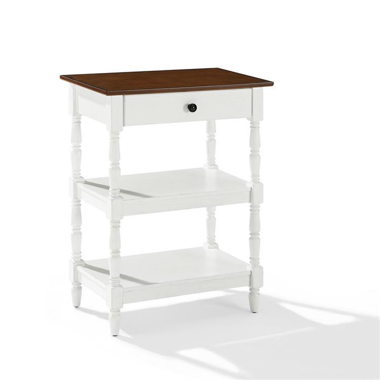 Crosley Heidi Accent Table Distressed White