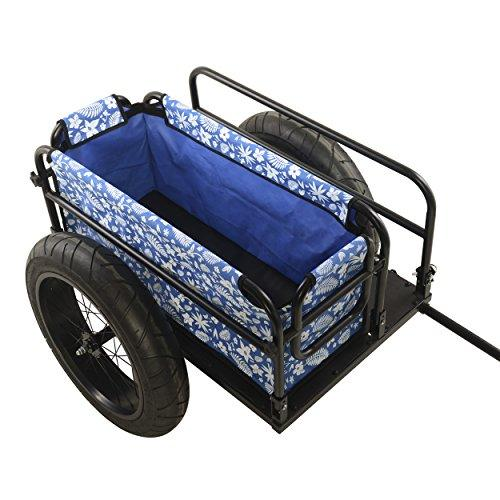 EV Bicycle Cargo Trailer with Blue Cover