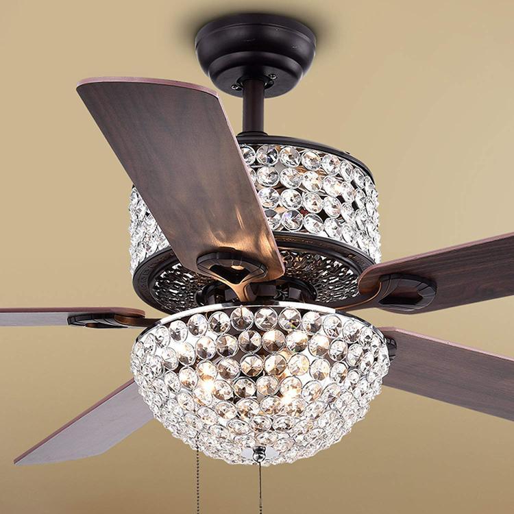 Laure Crystal 6-Light Ceiling Fan
