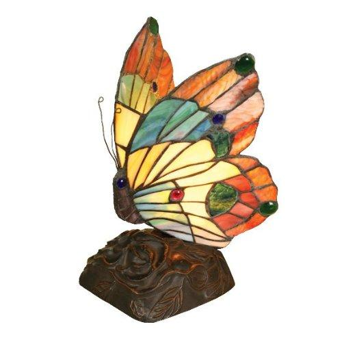 Kacy 2 Tiffany-Style 1 Light Butterfly Accent Table Lamp 10
