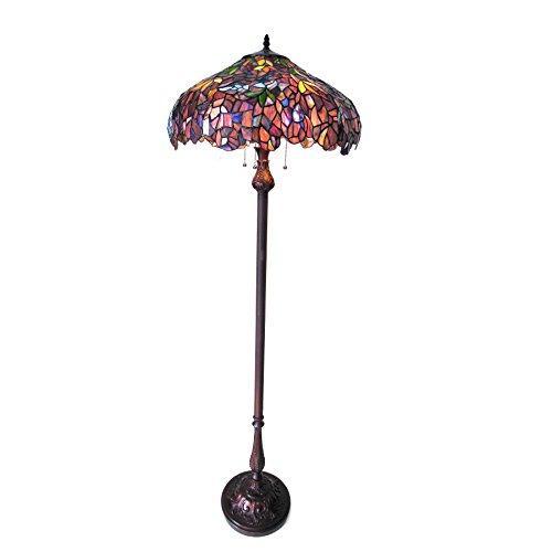 Katie Tiffany-Style 3 Light Wisteria Floor Lamp 20