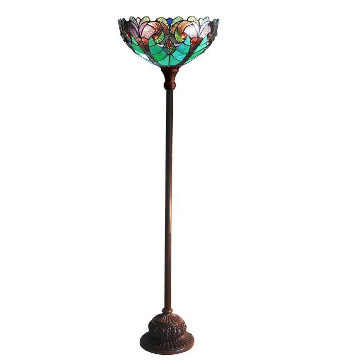 Liaison Tiffany-Style 1 Light Victorian Torchiere Floor Lamp 15