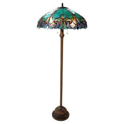 Liaison Tiffany-Style 2 Light Victorian Floor Lamp 18