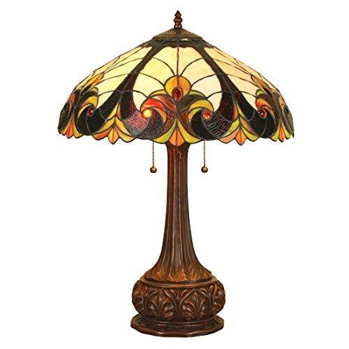 Liaison Tiffany-Style 2 Light Victorian Table Lamp 18