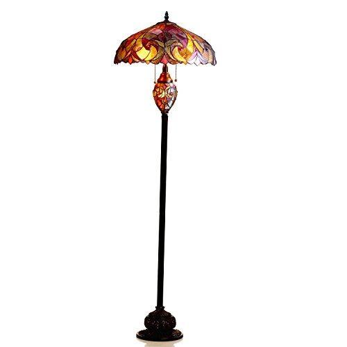 Liaison Tiffany-Style 3 Light Victorian Double Lit Floor Lamp 18