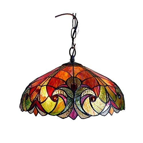 Liaison Tiffany-Style 2 Light Victorian Ceiling Pendent 18