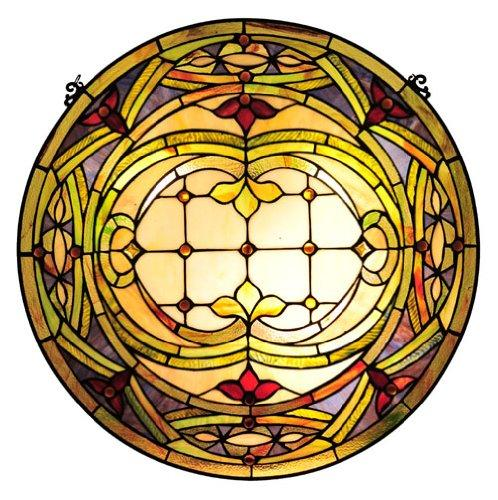 Tiffany-Glass Float Design Window Panel 24