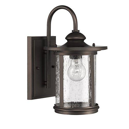 Cole Transitional 1 Light Rubbed Bronze Outdoor Wall Sconce 13