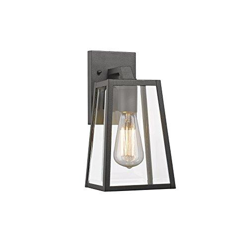 Leodegrance Transitional 1 Light Black Outdoor Wall Sconce 11