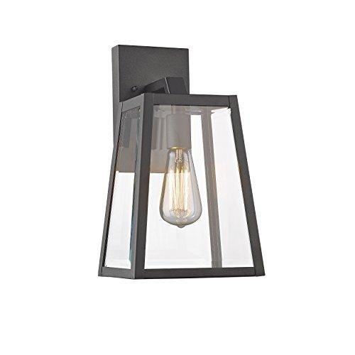 Leodegrance Transitional 1 Light Black Outdoor Wall Sconce 14