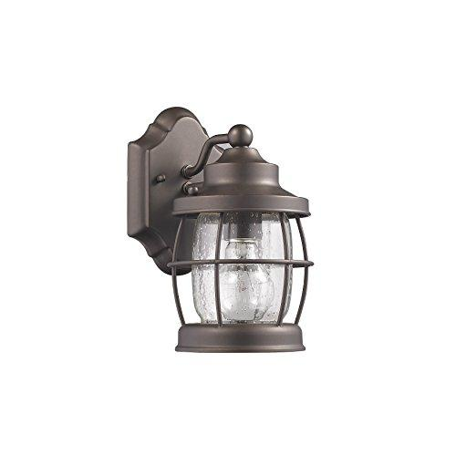 Lucan Transitional 1 Light Rubbed Bronze Outdoor Wall Sconce 10