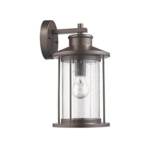 Maleagant Transitional 1 Light Rubbed Bronze Outdoor Wall Sconce 14