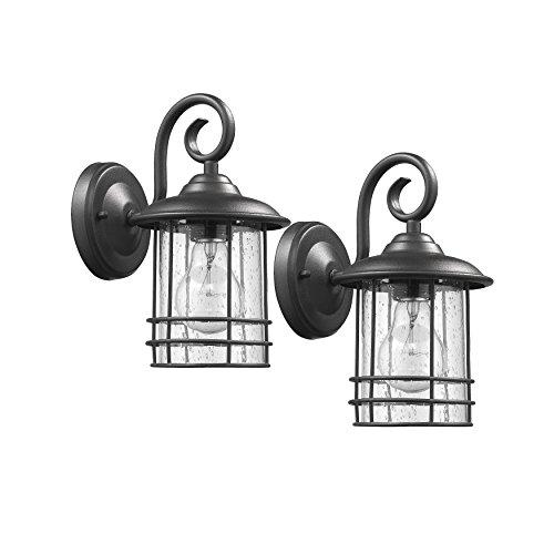 Transitional 1 Light Black Outdoor Wall Sconce 10