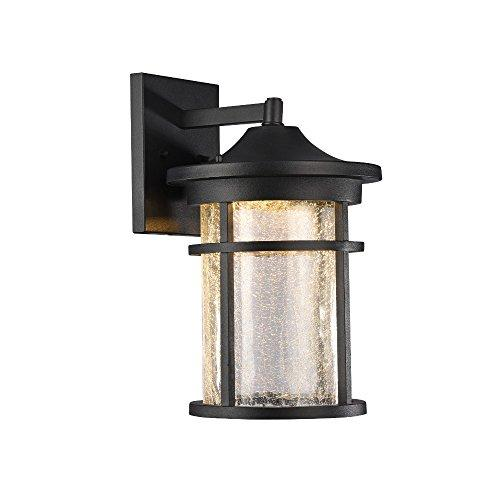 Frontier Transitional Led Textured Black Outdoor Wall Sconce 15