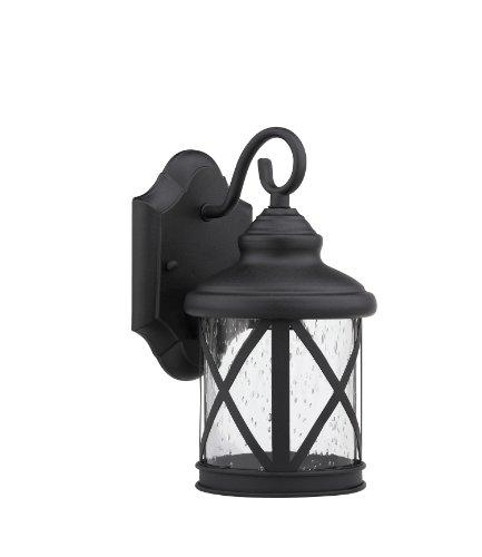 Milania Adora Transitional 1 Light Black Outdoor Wall Sconce 16