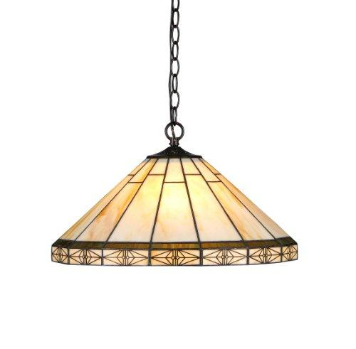 Belle Tiffany-Style 2 Light Mission Ceiling Pendent 18