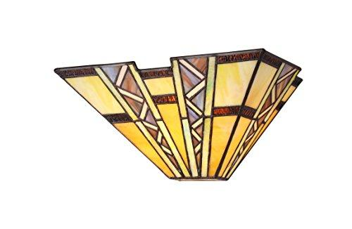 Progressive Tiffany-Style 1 Light Mission Wall Sconce 12