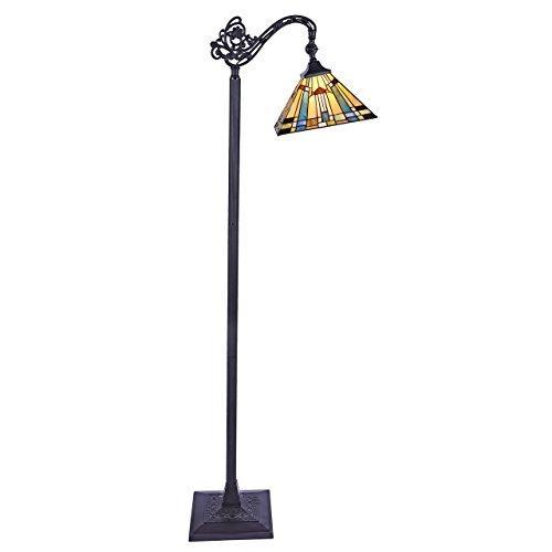 Kinsey Tiffany-Style 1 Light Reading Floor Lamp 11