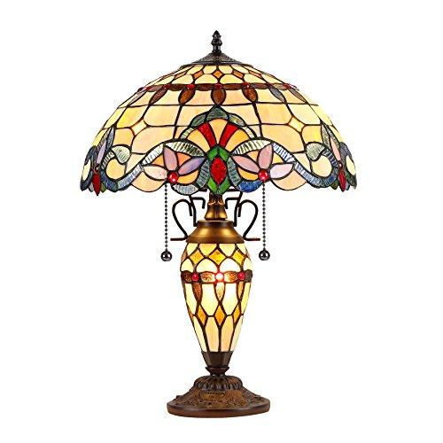 Cooper Tiffany-Style 3 Light Victorian Double Lit Table Lamp 16