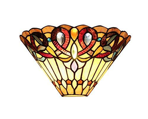 Ambrose Tiffany-Style 1 Light Victorian Wall Sconce 12