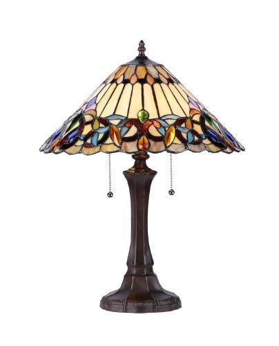 Ambrose Tiffany-Style 2 Light Victorian Table Lamp 16