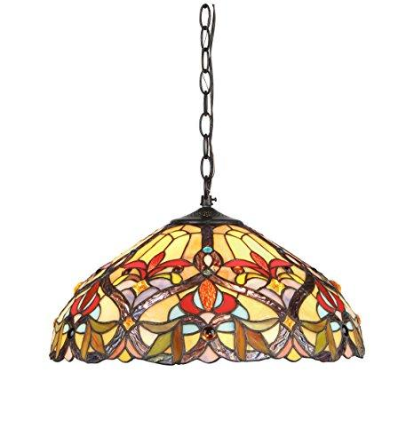 Byron Tiffany-Style 2 Light Victorian Ceiling Pendant Fixture 18