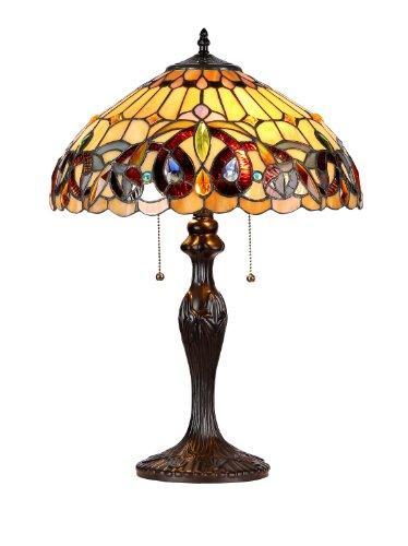 Serenity Tiffany-Style 2 Light Victorian Table Lamp 16